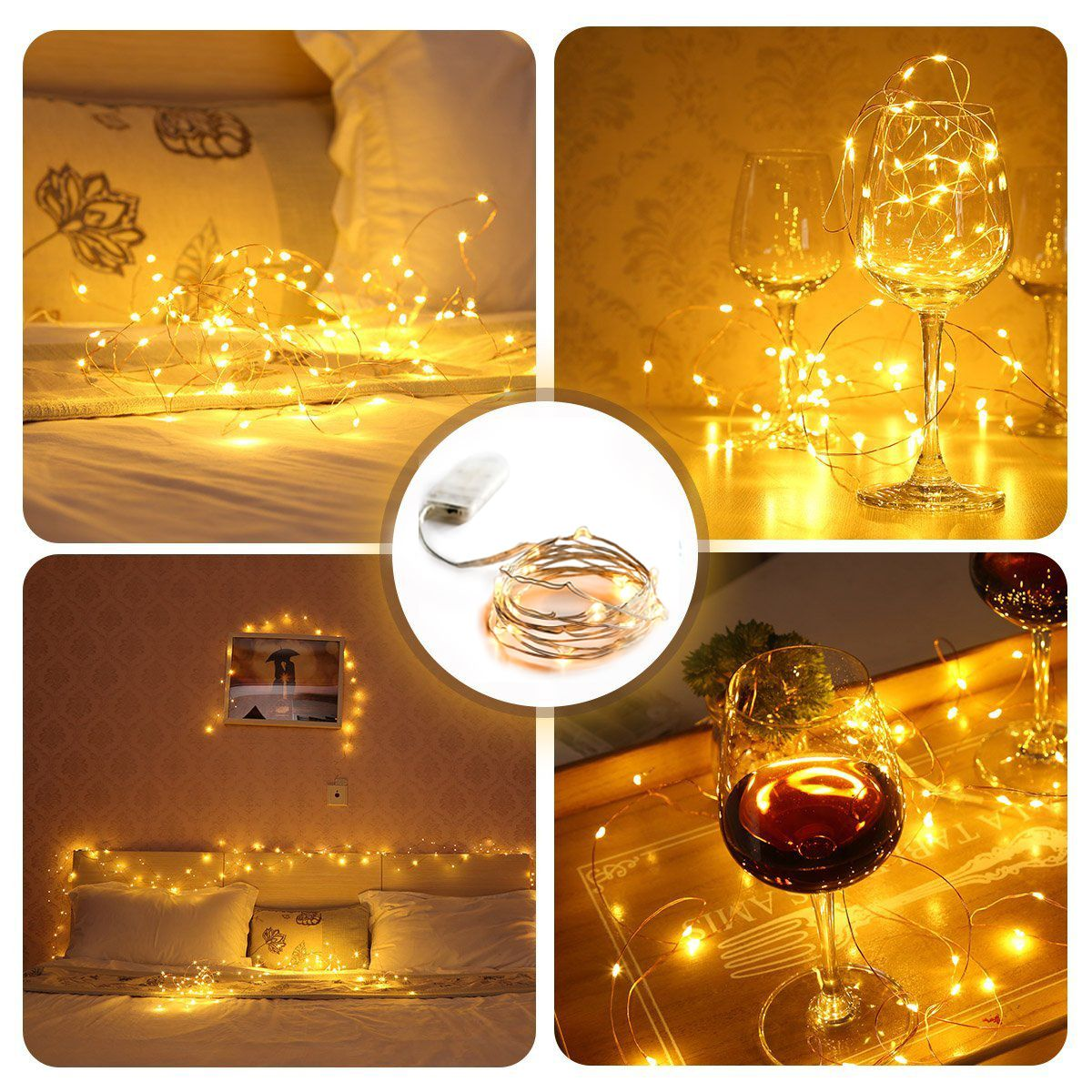 Pack of 3 Sets Timer Fairy Lights Battery Operated on 20ft