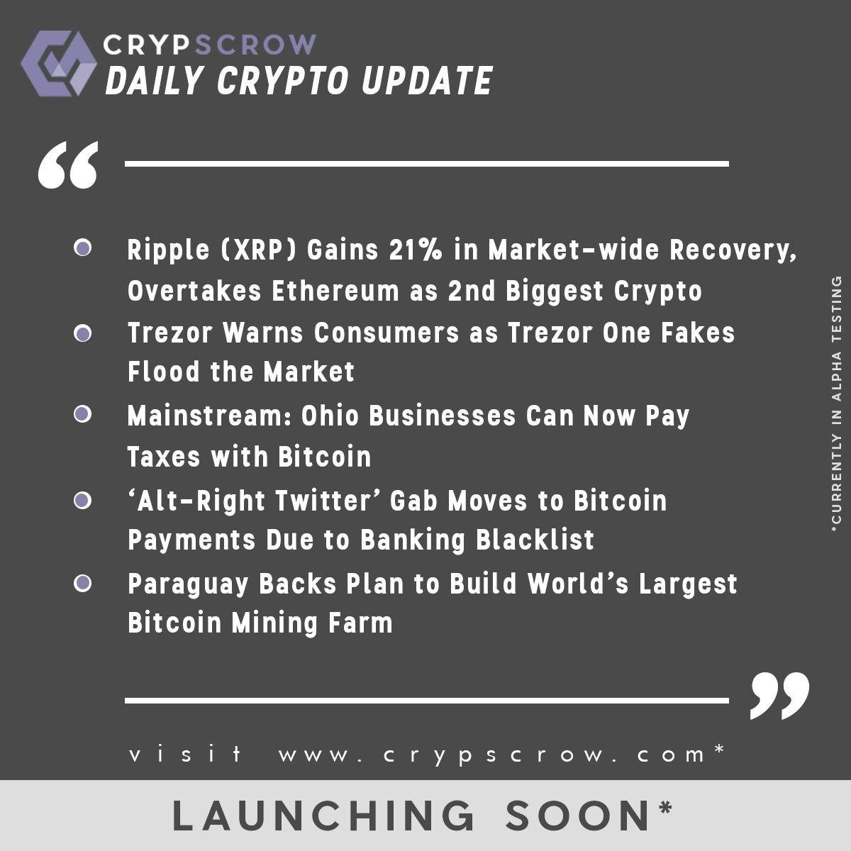 dailycryptoupdate #cryptonews #crypscrow #ripple #xrp