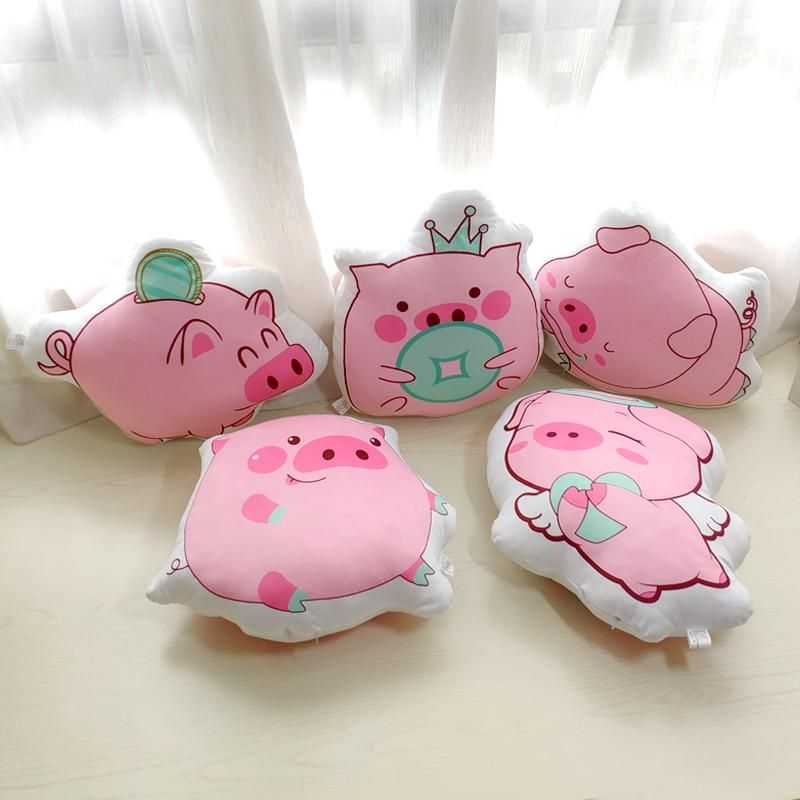 plush toy cartoon one bag pudding cat kitten pig piggy stuffed cushion pillow