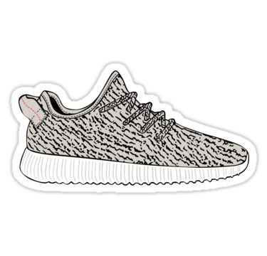 a160f9f2665 Yeezy Boost 350  Sticker by tee4daily in 2019