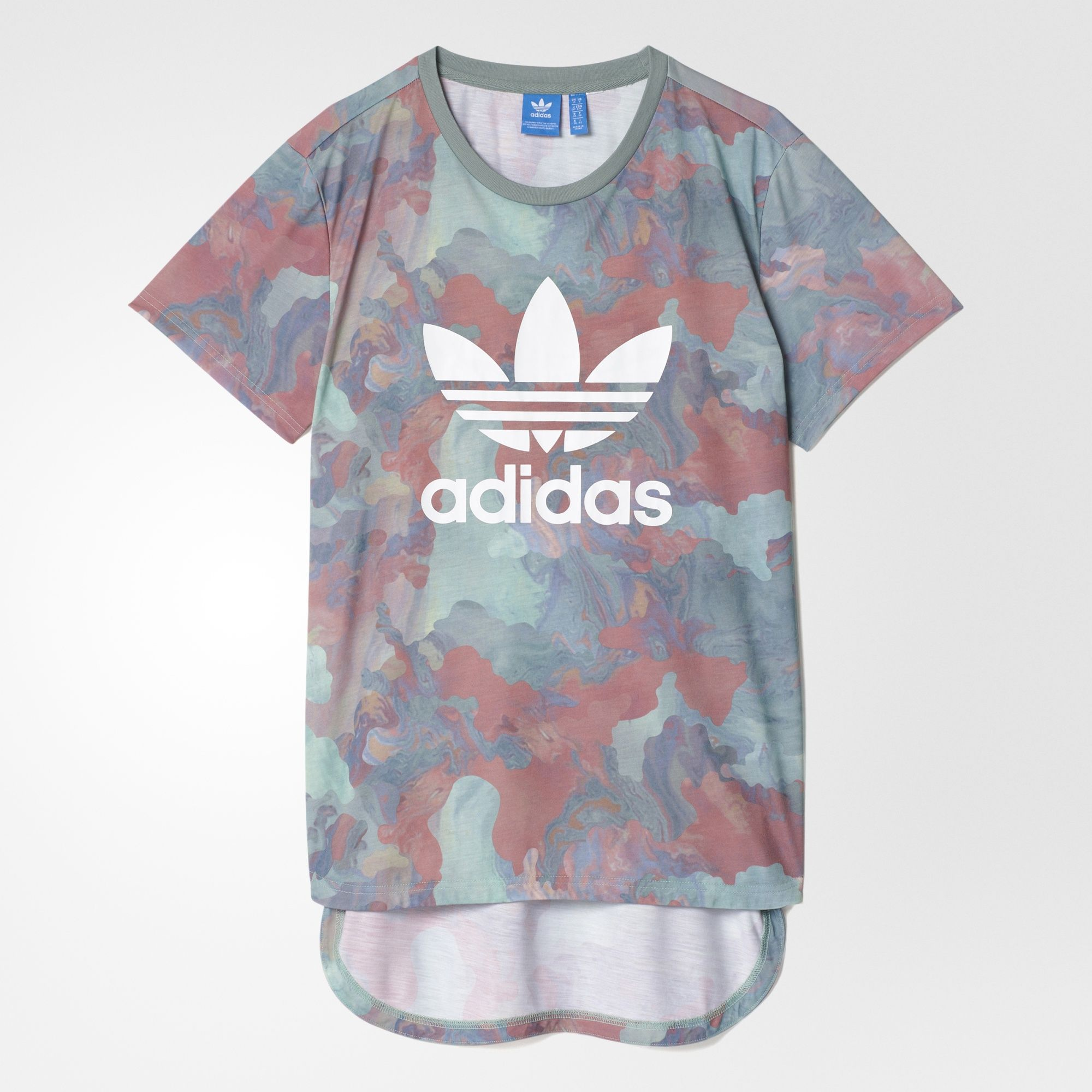 vecino Aburrir misil  adidas - Camiseta Boyfriend Larga Camuflaje Color Pastel | Adidas camisetas,  Camisetas, Camiseta de novio