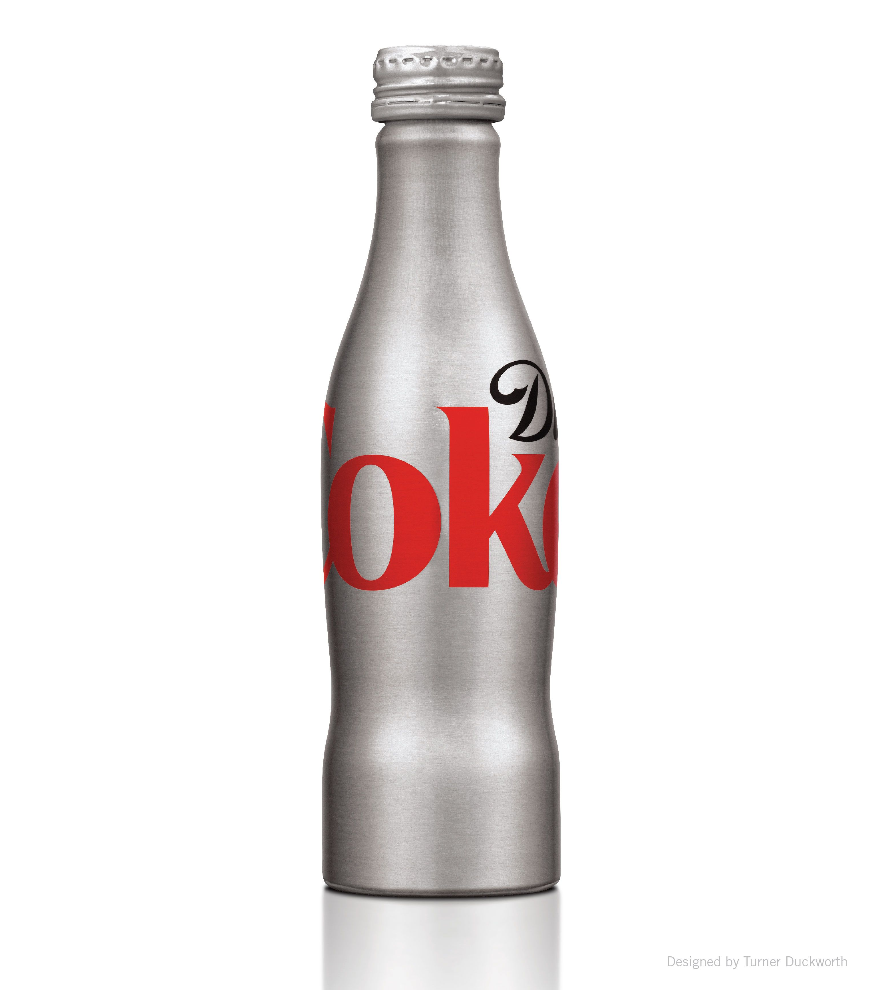 Diet Coke aluminum bottle. Designed by Turner Duckworth.