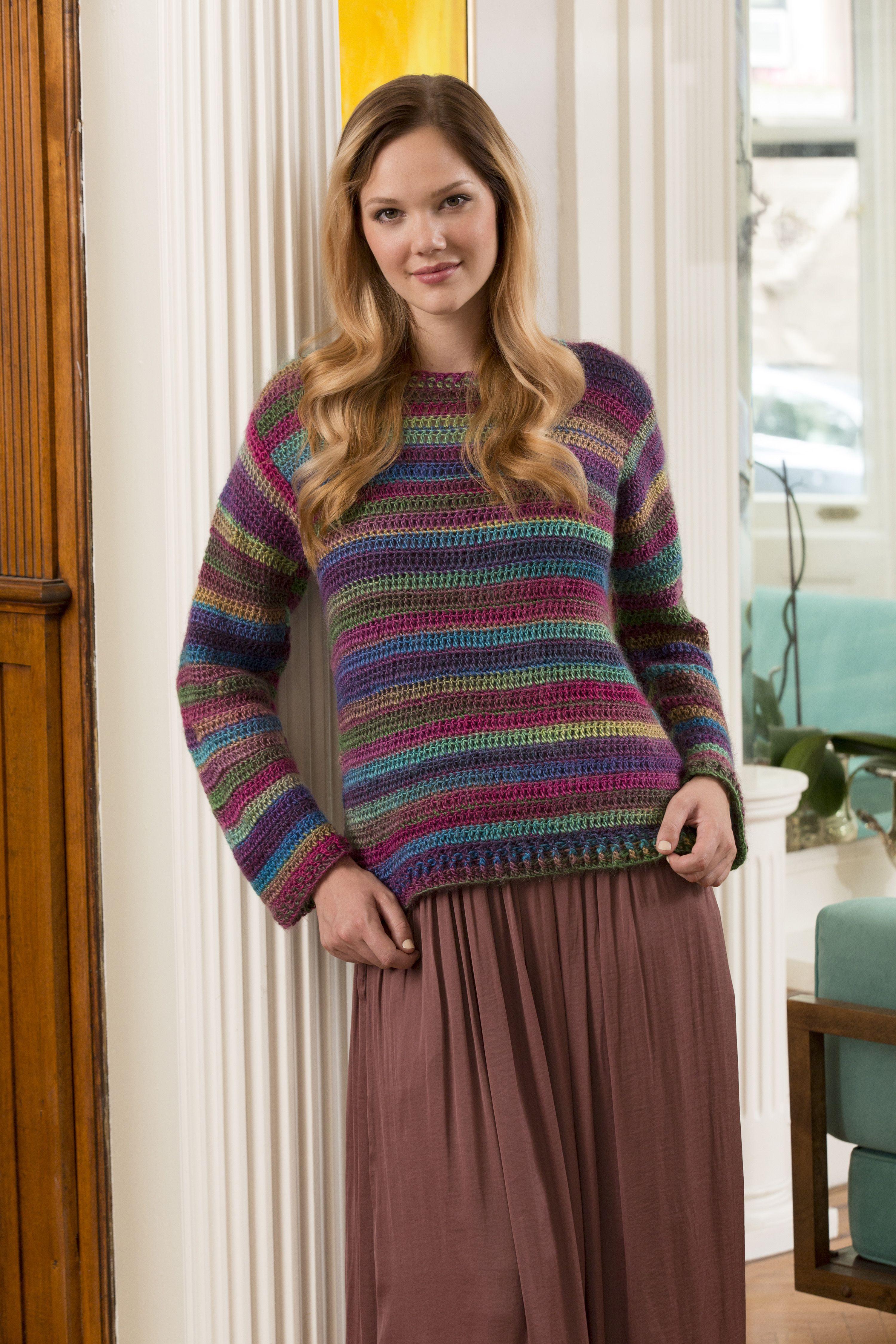 Love-to-Wear Sweater Free Crochet Pattern in Red Heart Boutique ...