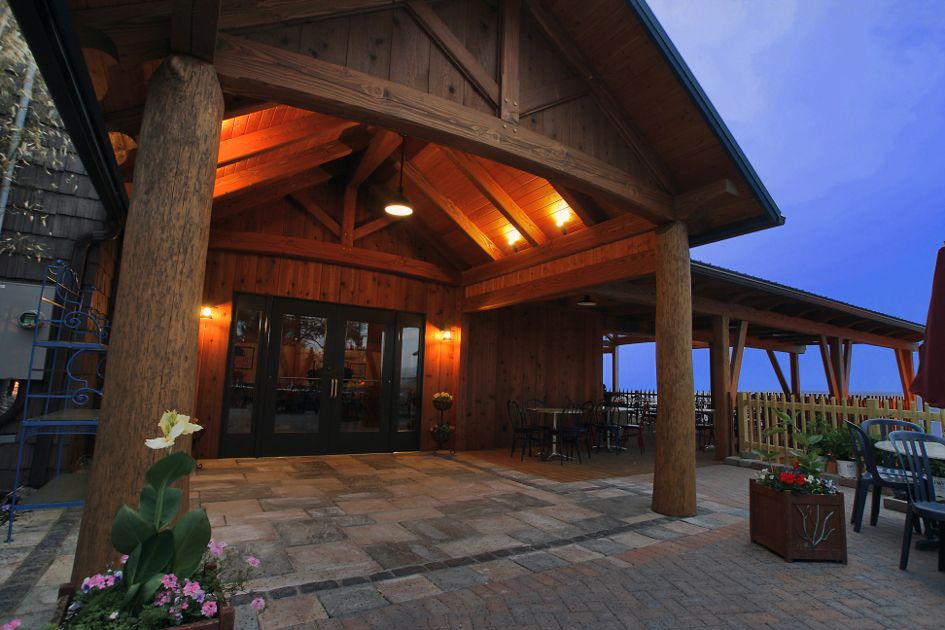 Post And Beam Entry Timber Frame Porch Timber Frame Building Timber Frame