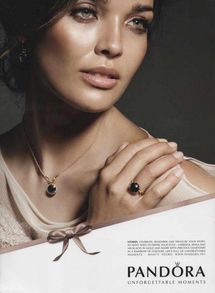 Beautiful Natural Evening Makeup In Pandora Jewelry Ad Campaign