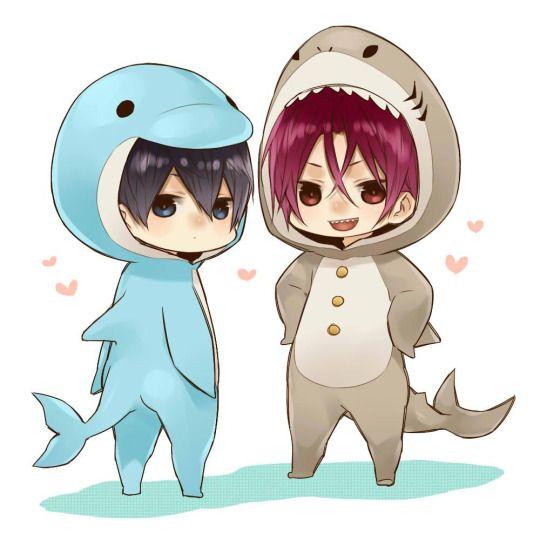 Dolphin Haru and Shark Rin // Free!