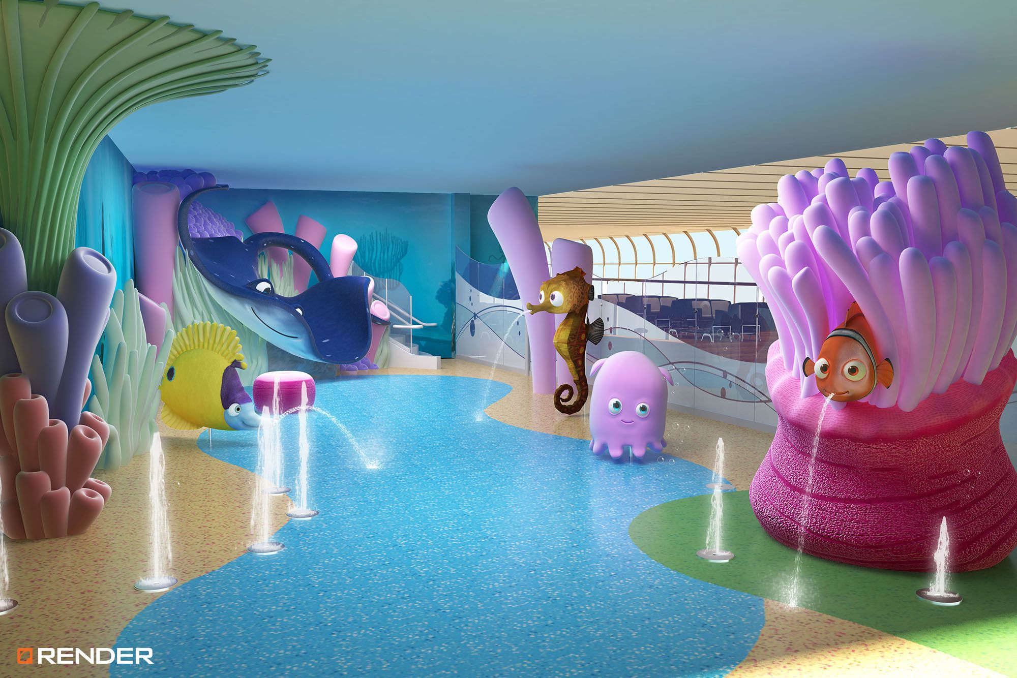 DISNEY CRUISE LINE Disney Cruise Family Kids Sea Interior