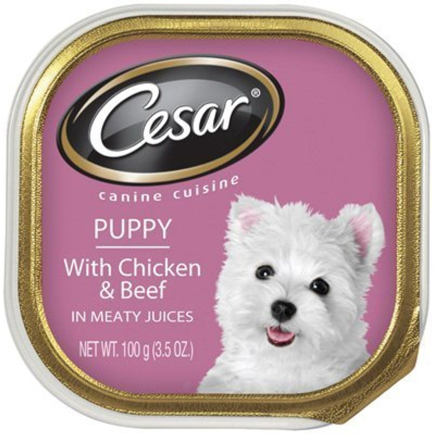 Cesar Puppy With Chicken Beef In Meaty Juices 6 Individual Tray