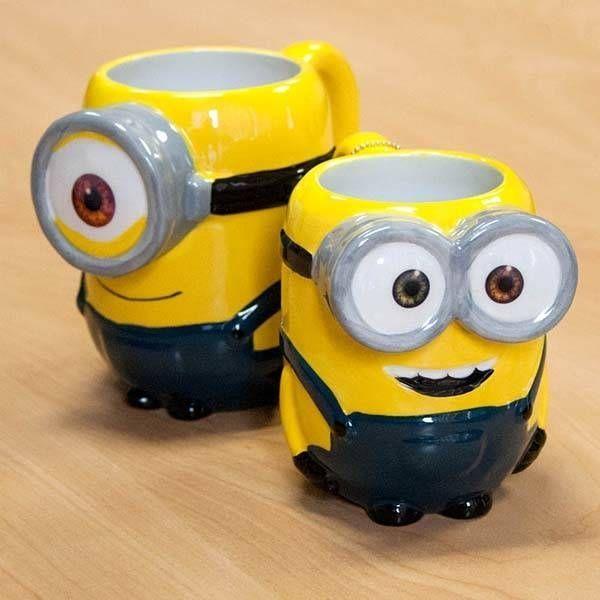 The 3D Minion Coffee Mug Likes Your Coffee Instead of Bananas #disneycoffeemugs