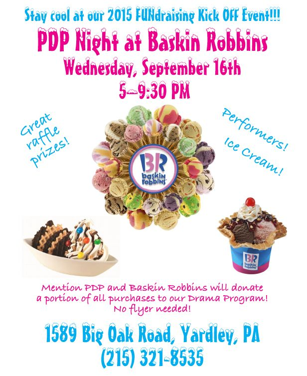 Baskin Robbins fundraising flyer My Design Work Pinterest - fundraising flyer