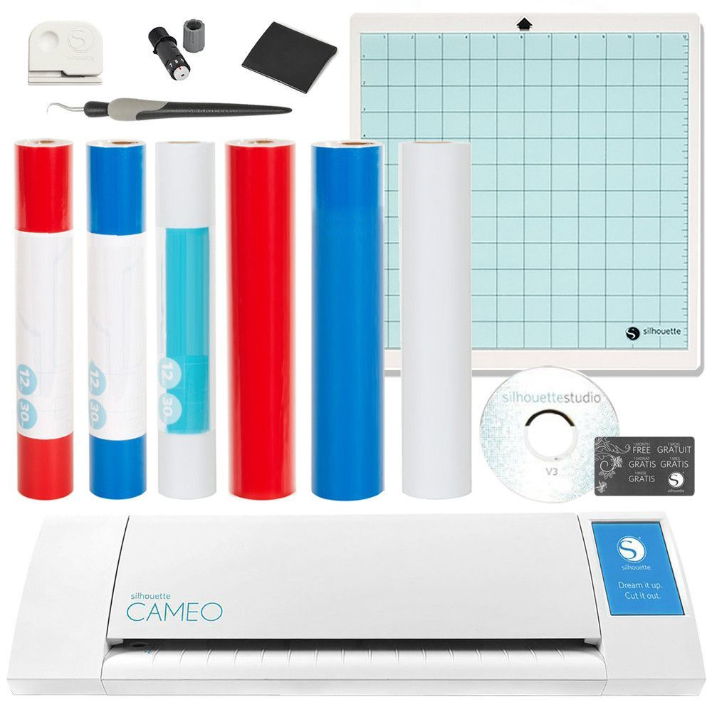 Silhouette Cameo II Touch Screen All American Bundle - $390.99 Value - Newest Model