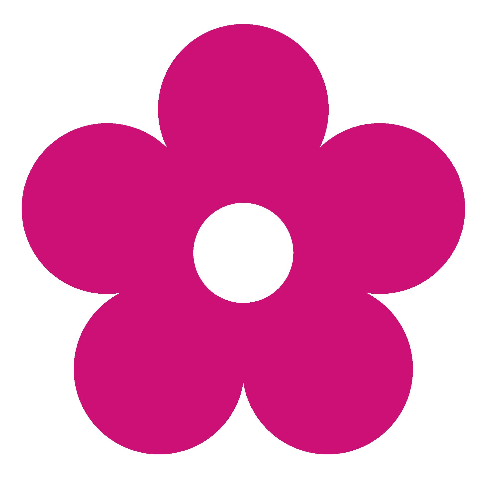 Clipart 20pink 20flower Flower Clipart Clip Art Hot Pink Flowers
