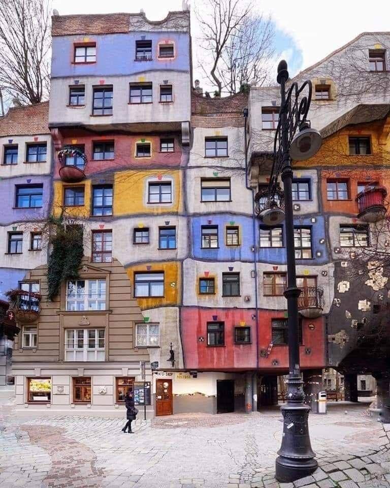 Arte Urbana Hundertwasser House Viena áustria Ja Out19 Viajar A Canadá Viena Viaje A Europa