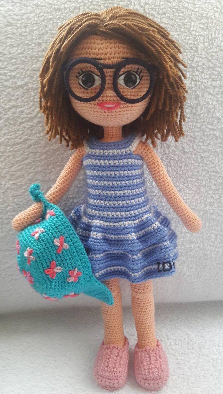 How to crochet an EASY doll - amigurumi doll pattern - YouTube | 1329x752