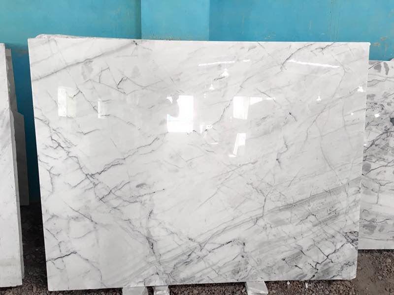 White Indian Statuario Marble Best Price Flooring Tiles Slabs