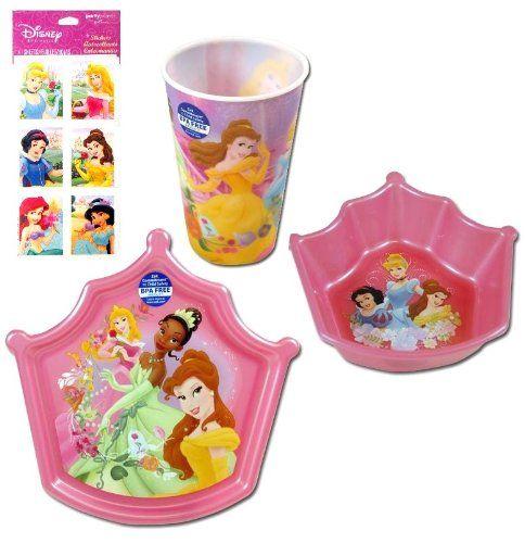 4 Item Disney Princess Dinnerware Gift Set For « Delay Gifts Sc 1 St Pinterest  sc 1 st  pezcame.com & Disney Princess Plate Set u0026 ... U550B ZZPRI001 Disney Princess ...