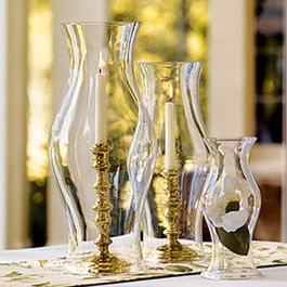 Glass Hurricane Shades - traditional - candles and candle holders - Williamsburg Marketplace