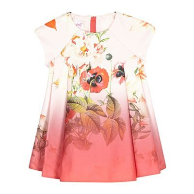 c316edfcde7204 Baker by Ted Baker Baby girls  pink floral dress-