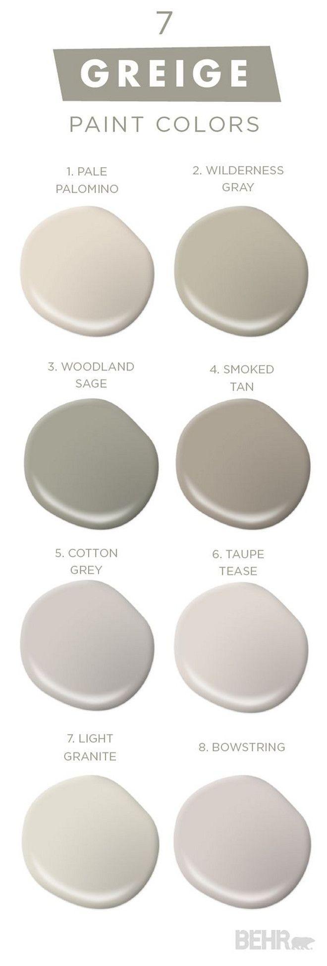 Best Behr Paint Colors 7 greige paint colors. greige best seller paint colorsbehr