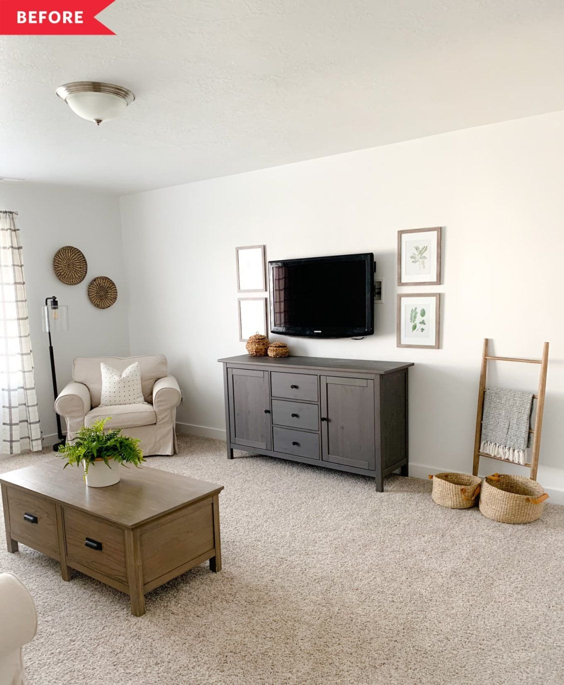 Before And After This 350 Living Room Refresh Shows The Powe