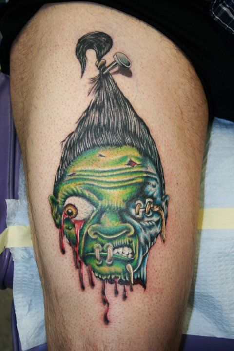 shrunken head tattoos pinterest shrunken head tattoo and tatting. Black Bedroom Furniture Sets. Home Design Ideas