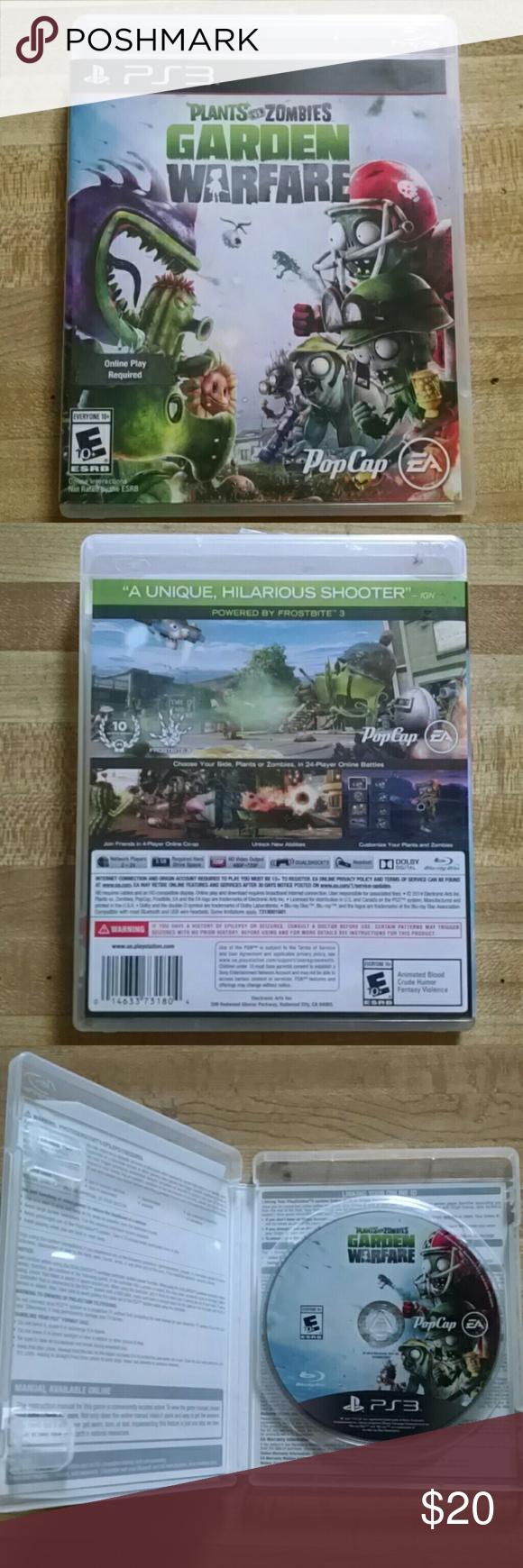 Plants vs Zombies garden warfare PS3 Game Plants vs