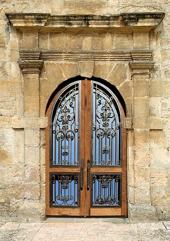 Love the old castle doors...wrought iron and warm dark wood. & Love the old castle doors...wrought iron and warm dark wood. Imagin ...
