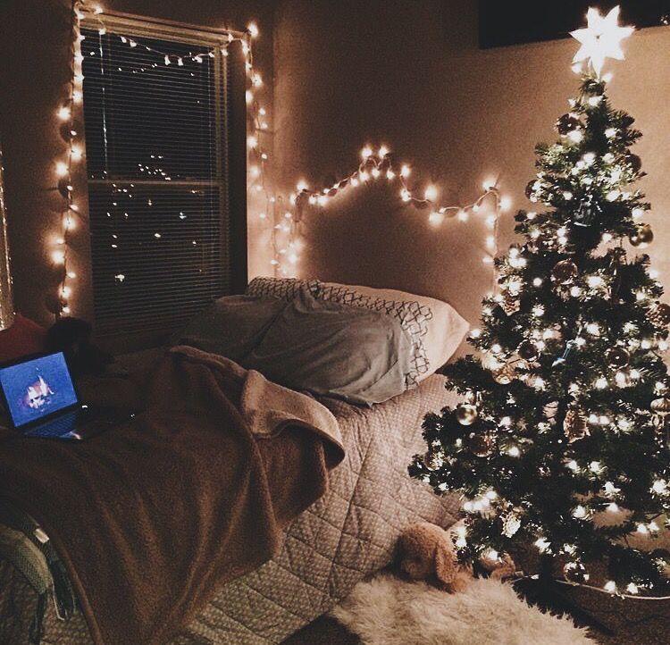 winter christmas and lights image on We