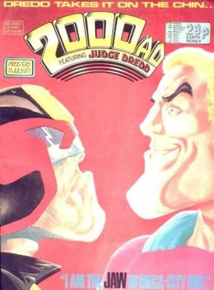 Jay Leno Crimson Chin : crimson, Would, Leno's, Crimson, Third, Wheel?, Judge, Dredd,, Cover,