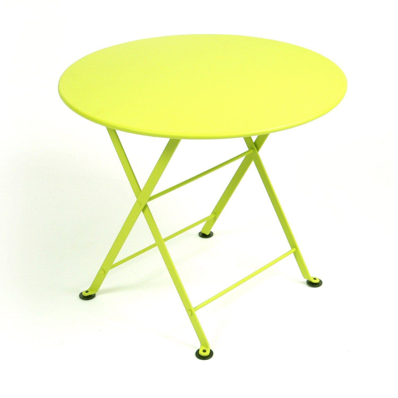 Table de jardin pour enfants FERMOB Tom pouce ronde verveine ...
