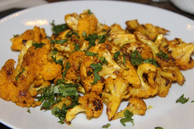 Indian-Spiced Roasted Cauliflower #idealproteinrecipesphase1dinner