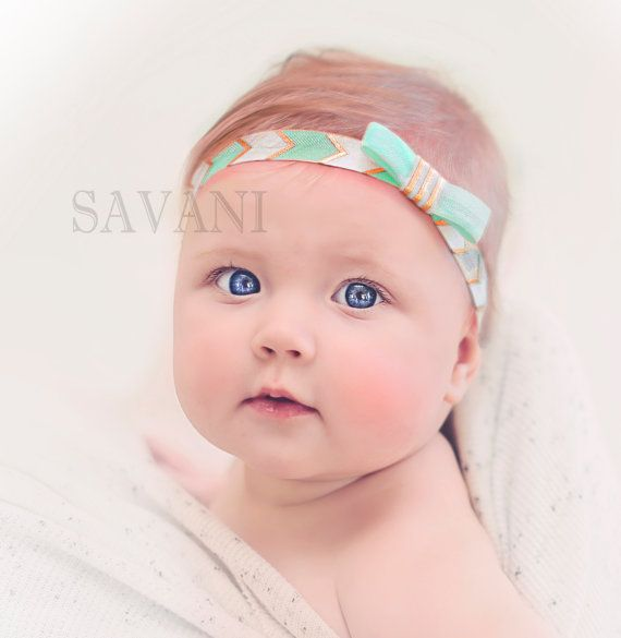 Baby headband arrow gold headband newborn by SAVANIboutique