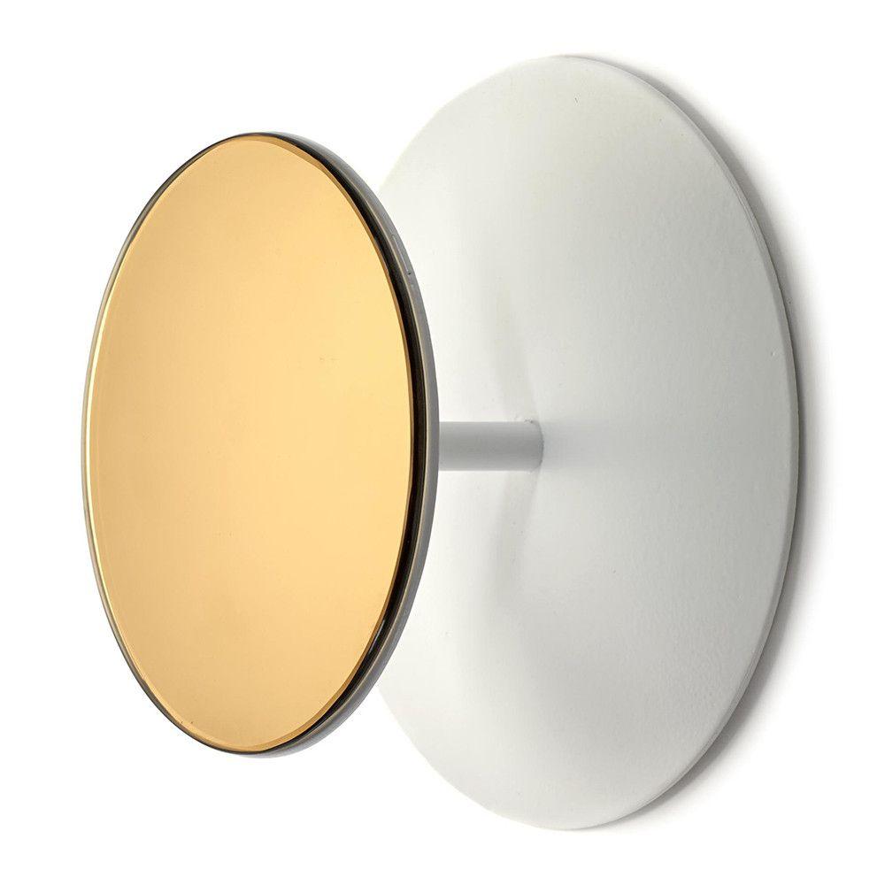 Studio Simple Round Mirrored Coat Hook - White | Coat hooks, Round ...