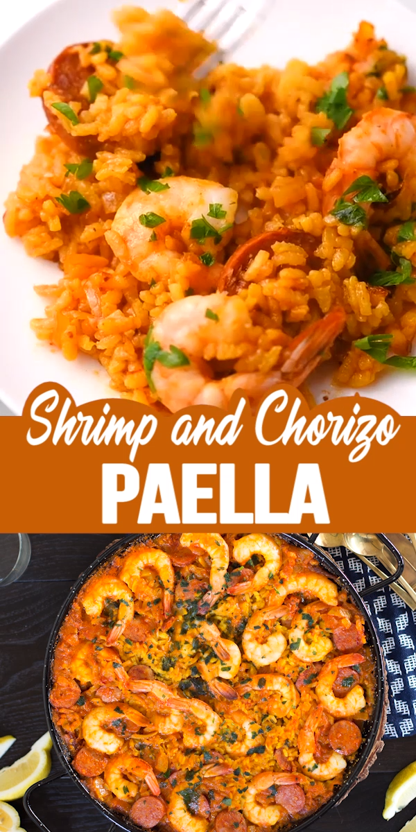 Photo of SHRIMP AND CHORIZO PAELLA