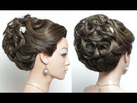 Easy Wedding Hairstyles With Puff Beautiful Updo Hair Tutorial Youtube Hochsteckfrisuren Lange Haare Elegante Hochzeit Frisuren Hochzeitsfrisur Tutorial