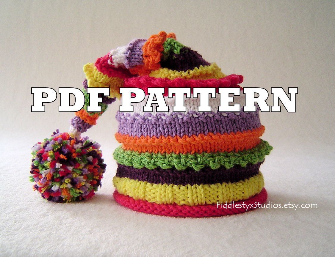 Knitting Pattern - Stocking Hat Pattern - the LUCY Hat (Newborn ...