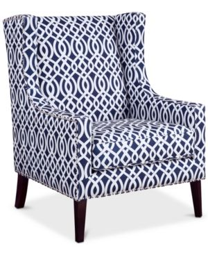 Superb Sloane Fabric Accent Chair Quick Ship Slate Blue Machost Co Dining Chair Design Ideas Machostcouk