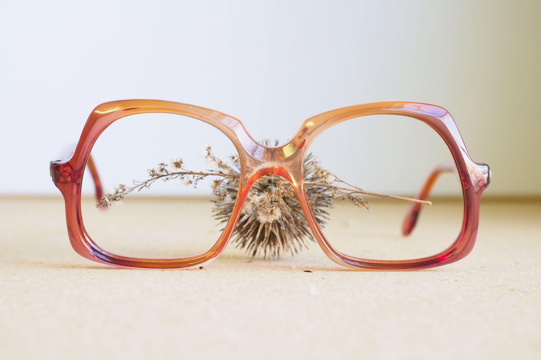 Vintage 70 S Eyeglass New Oversize Old Stock Retro Etsy Vintage Sunglasses Retro Red Glasses Vintage Eyewear