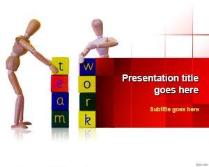 free team working powerpoint template is a nice and free team work