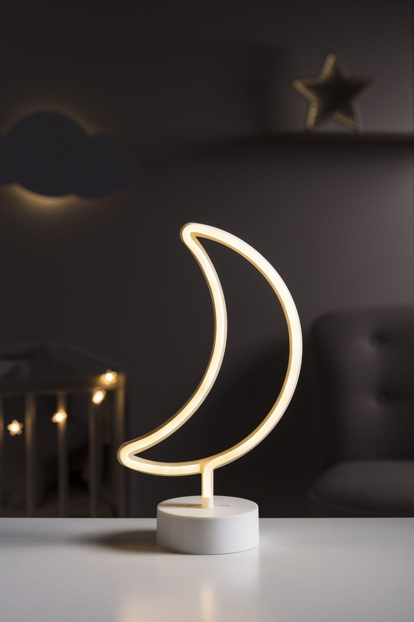 Neon Table Light: Battery Moon Table Top Neon Light In 2020