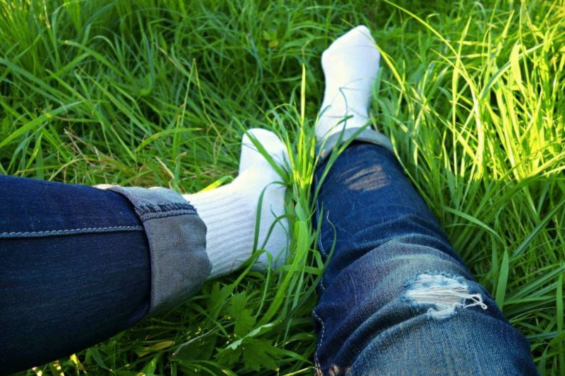 Getting grass stains out of your jeans is super easy if