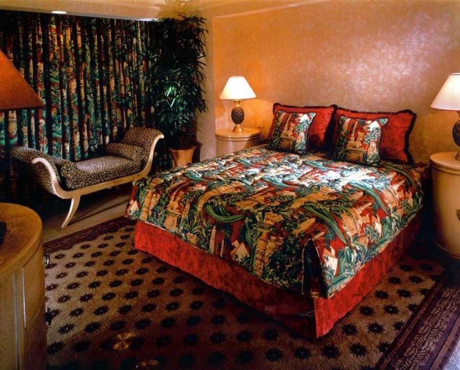 Ultra modern bedroom interior design, comfortable lamp