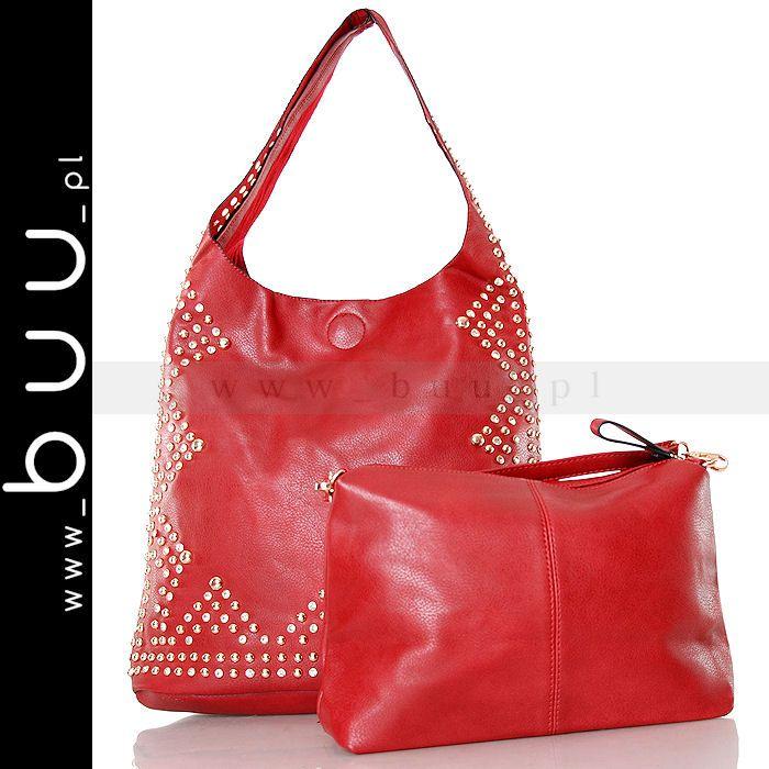 Torebka Czerwona Cwiekami I Cyrkoniami Worek Lafio 5540578753 Oficjalne Archiwum Allegro Bags Hobo Fashion