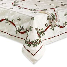 Christmas Laurel Tablecloth And Napkin 54 Cotton 46 Polyester