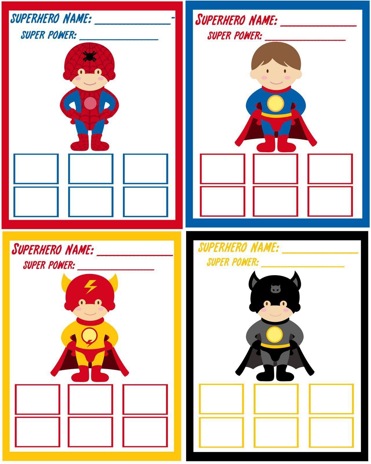 Superhelden Einladung Basteln | Geburtstagseinladungen Zum ...