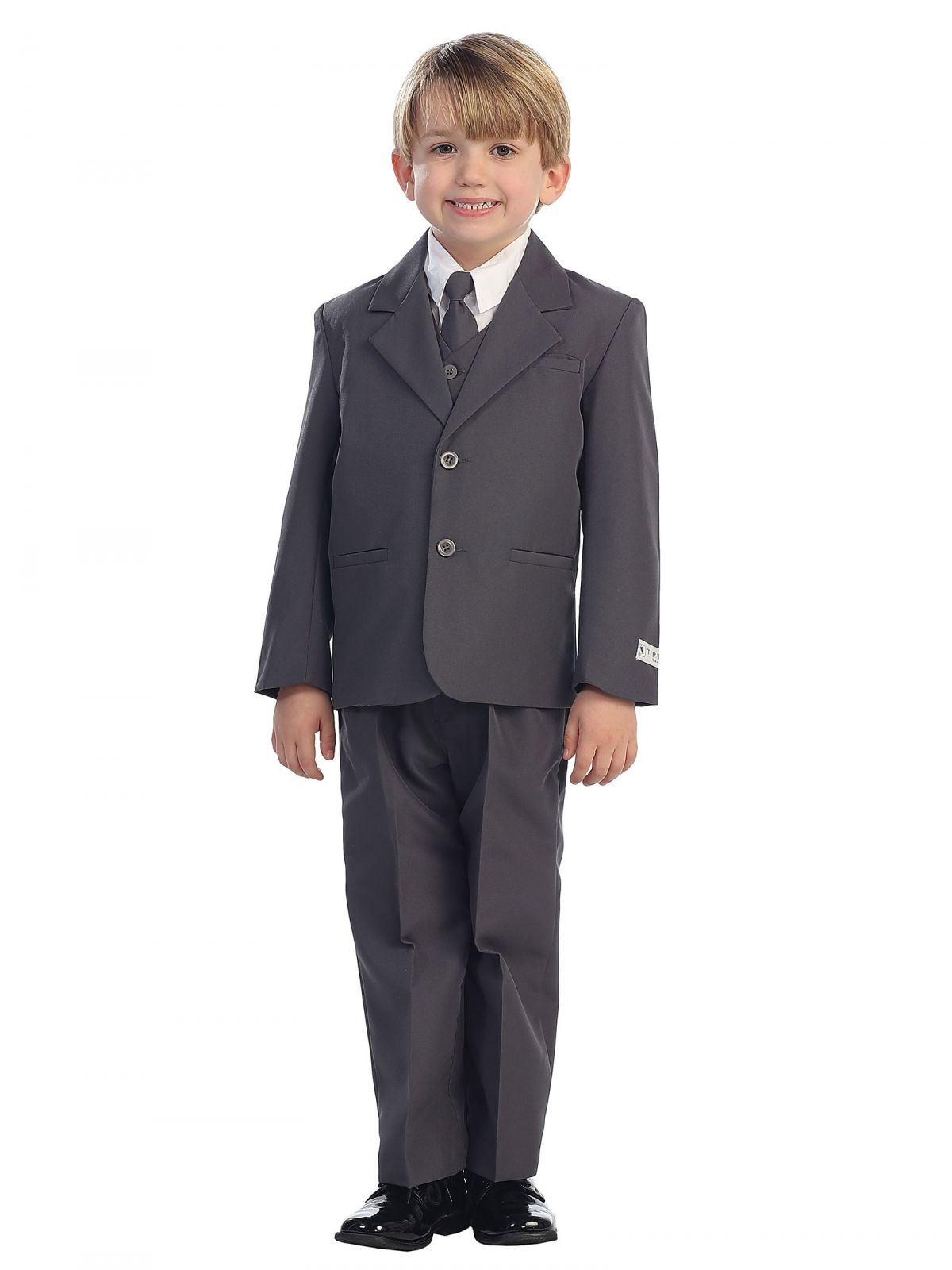 5de6e89b02f5 You receive 5 pieces including: 2 button Jacket, Pants, Long sleeved white  shirt, black button up vest, and cute black tie. Instantly turns any wild  child ...