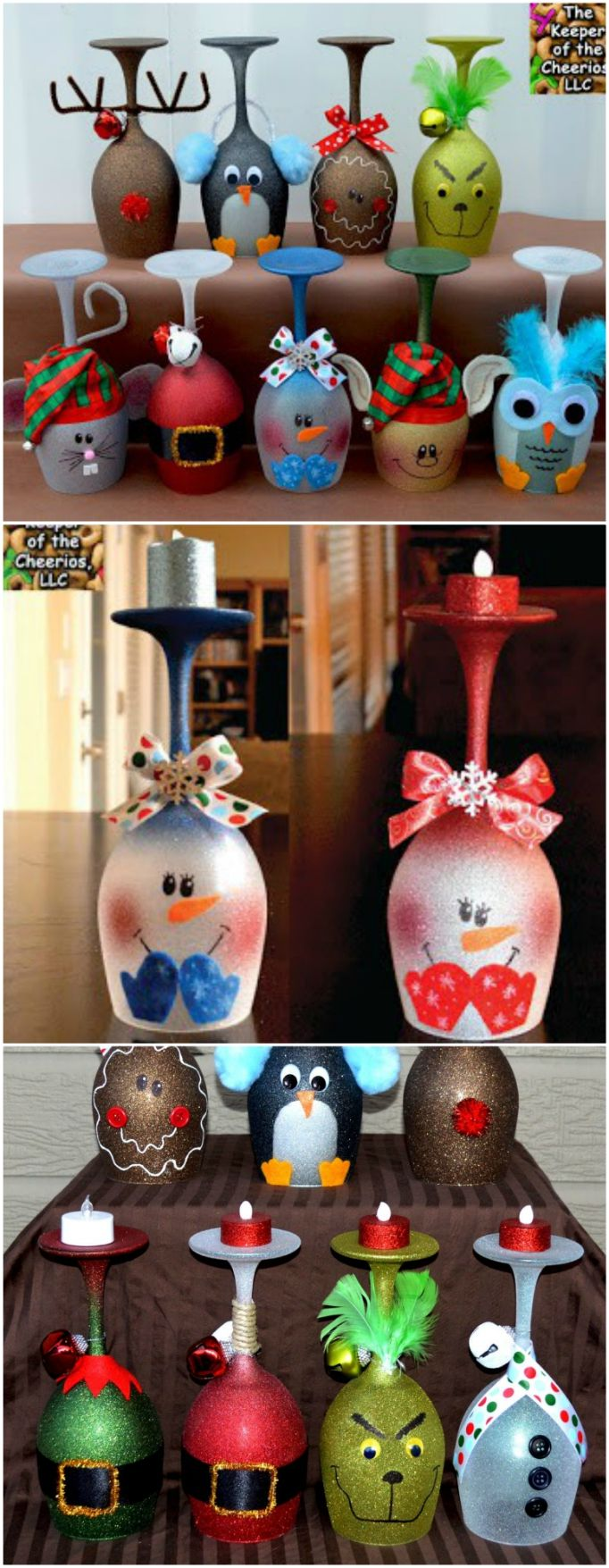 Christmas Wine Glass Candle Holders Ideas | The WHOot