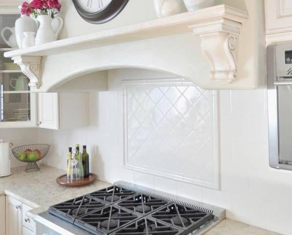 mantle over cooktop. very nice. | for the home | pinterest