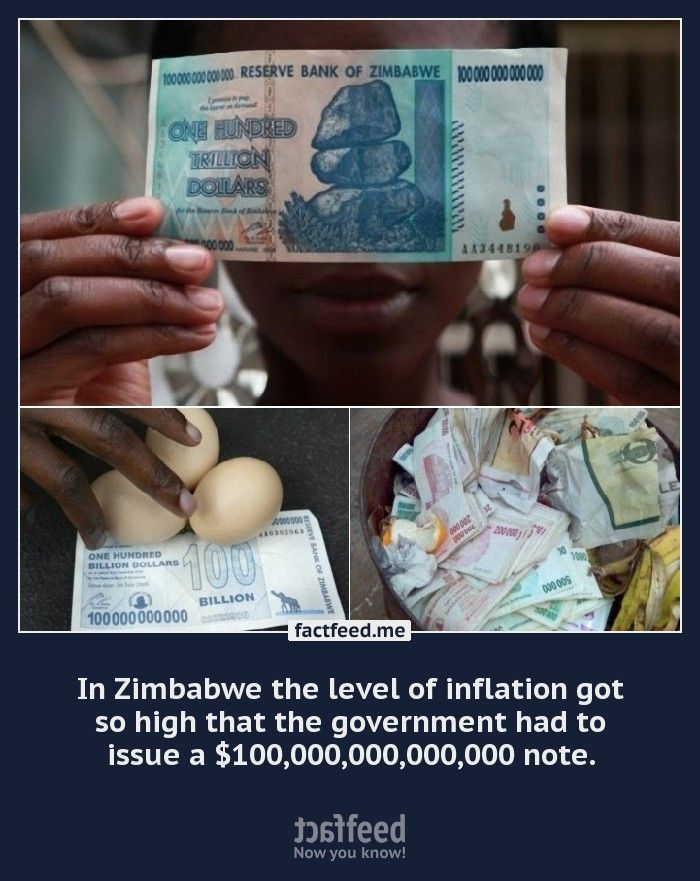 A 100 Trillion Dollar Bill From Zimbabwe Is Worth About 5