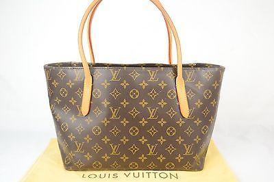 Authentic Louis Vuitton Handbag Monogram Brown Raspail PM Tote Bag